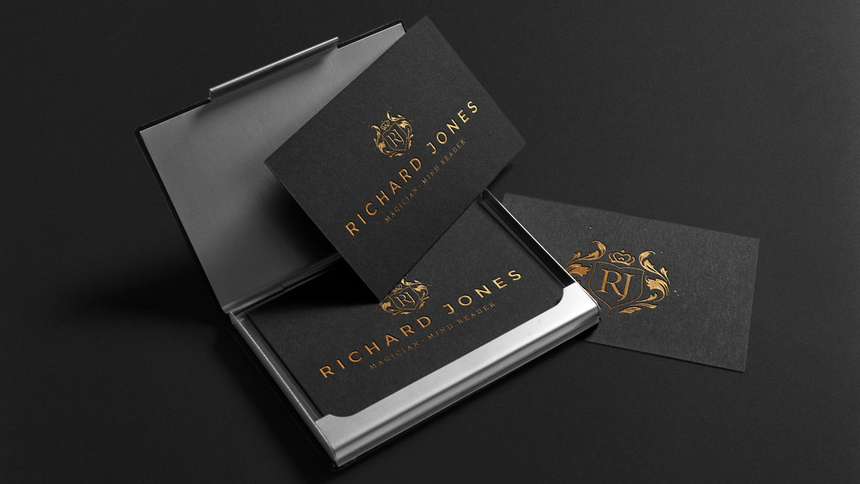 richard jones magic business cards