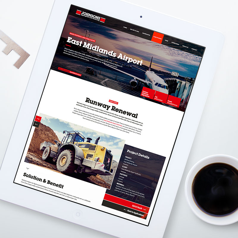johnsons aggregates website